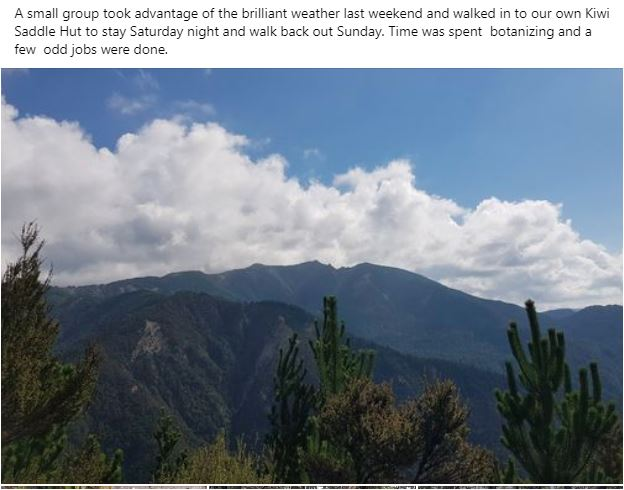 Trip Reports - Kiwi Saddle Hut