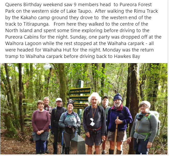 Trip Reports - Pureora Forest Park